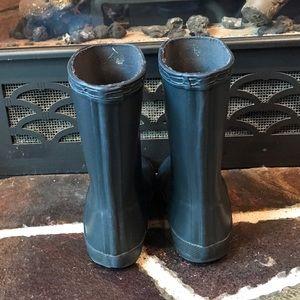 Hunter Shoes - Navy Blue Tall Gloss Toddler Hunters